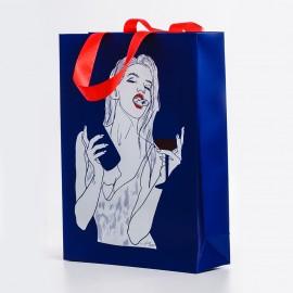 Пакет синий (вино)